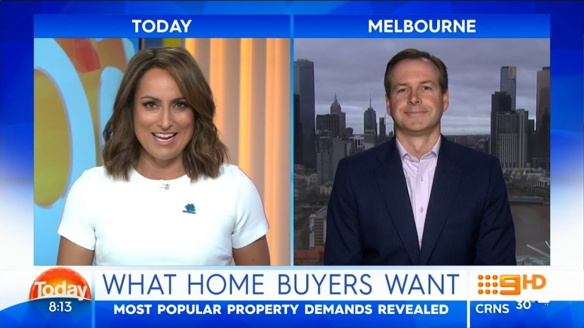 Today Show – What Home Buyers Want? Property Tips from Ben Kingsley